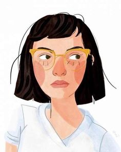 Changed my hair again (thanks ✨) so here's a boring self portrait of my RBF Art And Illustration, People Illustration, Portrait Illustration, Character Illustration, Watercolor Illustration, Illustrations, Portrait Pictures, Portrait Art, Self Portrait Drawing