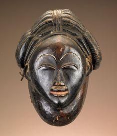 Africa | Lumbo or Punu peoples, Gabon | Late 19th to early 20th century | Wood, pigment