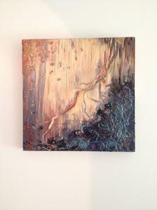 La vasculaire no.10  Médiums et support : gravure  et acrylique sur bois Dimensions : 30,5 cm X 44,5 cm Année de réalisation : 2014