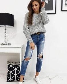 Dámske svetre a roláky - Oblečiemsa.sk Skinny Jeans, Chic, Pants, Style, Fashion, Skinny Fit Jeans, Shabby Chic, Moda, Elegant