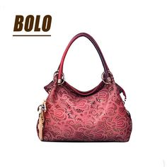 BOLO Brand!Casual PU Leather handbag bag fashion leisure shoulder hollow out a woman messenger bag dinner packages