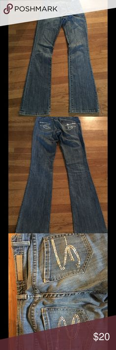 """Seven jeans Great pair of jeans. Several sequins missing from back pocket as shown in picture. Size 26 length from inseam is 32"""" Pants Boot Cut & Flare"""