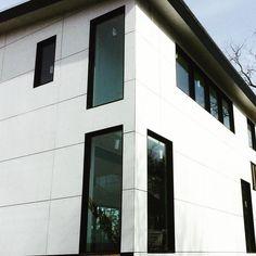 panel siding with minimal window casings