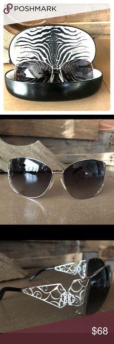 Roberto Cavalli Sun Glasses Gently used Roberto Cavalli sunglasses with case. Great condition, one small scratch. Roberto Cavalli Accessories Sunglasses
