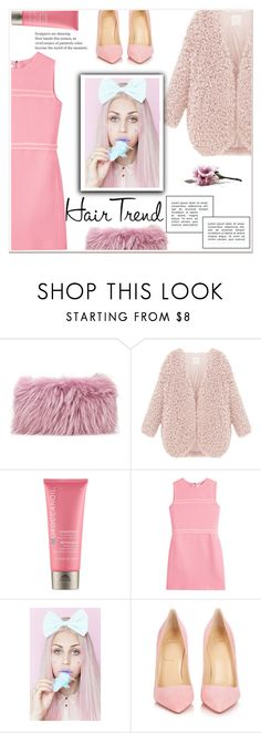 """""""Matchy-Matchy Hair"""" by ladydzsen ❤ liked on Polyvore featuring beauty, Mr & Mrs Italy, Moroccanoil, Victoria, Victoria Beckham, Lulu in the Sky, Christian Louboutin, hairtrend, rainbowhair and pastelpink"""