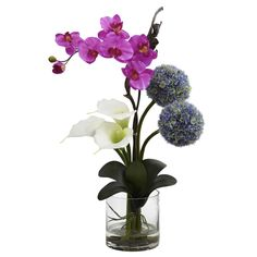 Nearly Calla Orchid and Ball Flower Arrangement