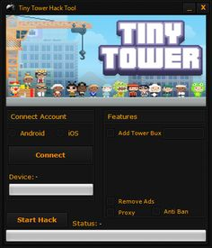 Tiny Tower Hack Tool