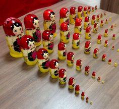 SEMENOVSKAYA Babushka RUSSIAN DOLL Matryoshka Nesting Doll 55pc No Reserve Big  | eBay