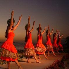 I love to watch hula dancing.  I do.