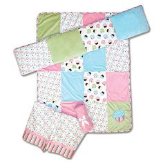 Trend Lab Cupcake 4-Piece Crib Bedding Set
