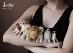 needle felted Dogs. I love these! If u go to google and type mhariross there will be pics of stuff I pinned