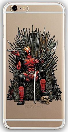 Silicone Gel Cover Case with Deadpool design for Iphone 7 (4.7in) (dp01s) -- Awesome products selected by Anna Churchill