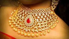 One Gram gold heavy necklace designs | FashionWorldHub.com