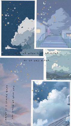 Cloud collage wallpaper