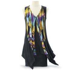 Handpainted Feather Dress - Women's Clothing & Symbolic Jewelry – Sexy, Fantasy, Romantic Fashions