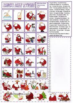 Santa Claus routine