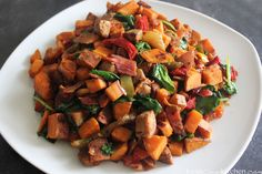 Normally when preparing sweet potatoes for breakfast I make these Roasted Cinnamon Sweet Potato Home Fries. But today, seeing as …