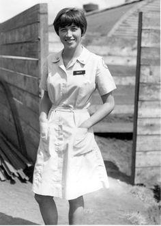 Donut Dolly Dusty in everyday uniform (undated) Vietnam History, Vietnam War Photos, Michael Morris, Psychological Warfare, North Vietnam, American Red Cross, Women In History, Usmc, Laos