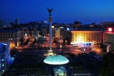 night Maidan (Independence Square), Kyiv, Ukraine