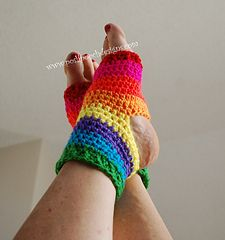crochet yoga socks