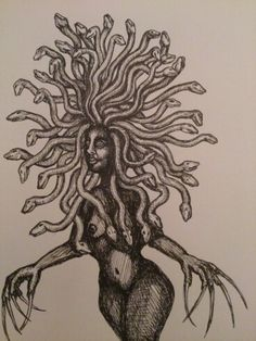 Medusa illustration by lena Öberg