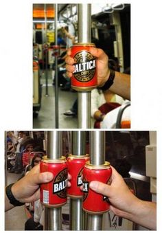 Great guerrilla marketing for beer