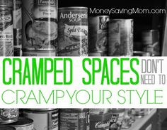 How do you save money by buying in bulk when your house doesn't have any storage space? Take a look at these EASY tips and strategies to find ways to save money and space.