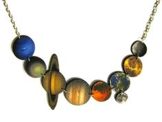 In honor of the news Mars rover:Solar system planets necklace by TheDopelerEffect on Etsy, $24.00