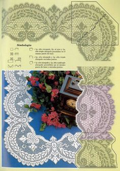 This Pin was discovered by yon Freeform Crochet, Crochet Art, Crochet Motif, Crochet Doilies, Crochet Flowers, Crochet Stitches, Crochet Patterns Filet, Crochet Diagram, Crochet Boarders
