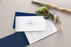 faire-part mariage Monogramme by Tomoë pour fairepart.fr #fairepart #mariage #wedding