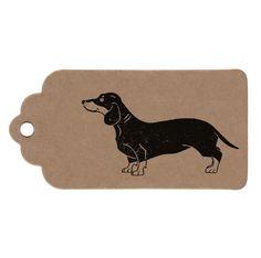 2 Tag Pack, Sausage Dog Handmade Dachshund Gift Tags £1.00
