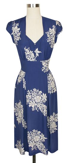 Introducing the new Trashy Diva Jayna Dress in Blue Hawaii! It has a charming open back and button front!