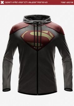 Superman Hoodie - These are beautiful right? YOU WANT THEM RIGHT? Well, you can't, these are only concept designs by artist seventhirtytwo. Now if you'll excuse me, I think I'll go sit down in a corner somewhere and cry a little bit.