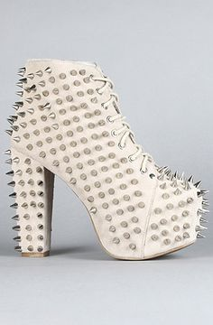 Jeffrey Campbell The Spike Lita Shoe in Nude Suede and Silver : Karmaloop.com - Global Concrete Culture  dont care which of the 3 colors i buy when i have $150 expendable dollarss