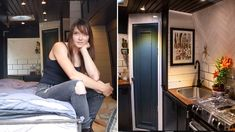 ARTIST BUILT this Beautiful VAN CONVERSION // Custom MURPHY BED SYSTEM 🛌 & Large Workspace - YouTube Van Conversion Guide, Van Home, Van Living, Murphy Bed, Bed Storage, Small Spaces, Building A House, Artist, Youtube