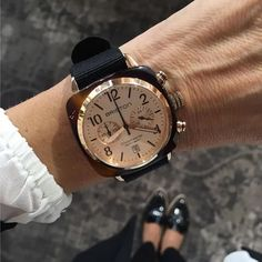 #watchoftheday by Juwelier Stadelmann #fashion #womenstyle #watch #briston #clubmaster #classic #acetate #chronograph #rosegold dial