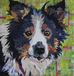 'Sunny' Fiber Art Dog by Barbara Yates Beasley