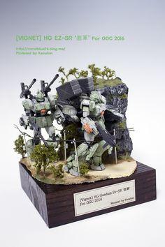 [Vignet] HG Gundam EZ-SR '進軍' - Diorama Build