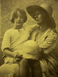 Vanessa with Angelica who believed for years she was the daughter of Clive Bell, she was in fact daughter of Duncan Grant, a confirmed homsexual and was to marry one of her father's lovers - Vanessa and Duncan being quite unable to be honest with her and put a stop to it.