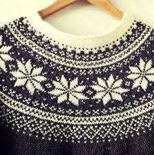 Knitting Pattern Beautiful Norwegian Sweater by silverishmoon Motif Fair Isle, Fair Isle Pattern, Knitting Gauge, Knitting Stitches, Sweater Knitting Patterns, Knit Patterns, Tejido Fair Isle, Icelandic Sweaters, Fair Isle Knitting