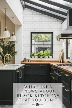 Six ways to add personality to a minimalist kitchen A love of minimalist design doesn't mean you can't inject some personality into your kitchen. I've teamed up with Sustainable Kitchens to show you ways to add personality to a minimalist kitchen Kitchen Ikea, Black Kitchen Cabinets, Farmhouse Kitchen Cabinets, Kitchen Cabinet Design, Black Kitchens, Modern Kitchen Design, Interior Design Kitchen, Home Kitchens, Kitchen Storage
