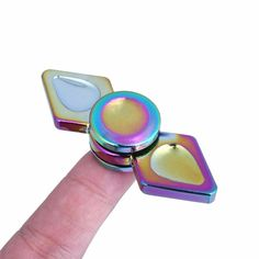 Zinc Alloy Two Arm Colorful Fidget Hand Spinner ADHD Autism Reduce Stress Focus Attention Toys