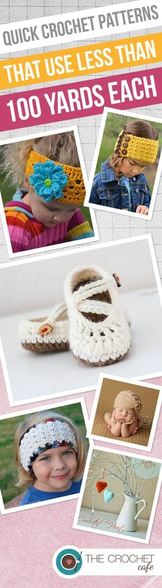 Quick Crochet Patterns that use less than 100 yards each (Pinterest) 2