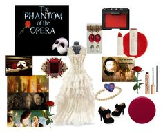 """""""Phantom of the Opera"""" by alisafranklin ❤ liked on Polyvore featuring Smith & Cult, Alexander McQueen, Christian Louboutin, Naked Princess, Katherine Jetter, NARS Cosmetics and Charlotte Tilbury"""