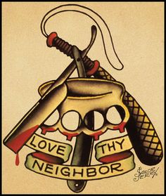 Vintage sailor Jerry tattoo