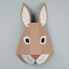 The Gentle Journal Paper Mask, Cat Mask, First Halloween, Mask For Kids, Hare, Classroom Decor, Rabbit, Journal, Projects