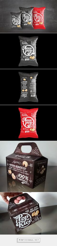 New Pop popcorn by Fabricio Rauen. Source: Behance. Pin curated by #SFields99 #packaging #design