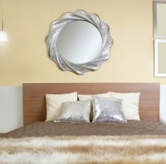 Mirrors work well as art in your home.