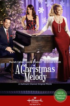 A Christmas Melody - A gift of music transports people back to another time and place where they find their truest feelings. Starring Mariah Carey, Lacey Chabert and Brennan Elliott Best Hallmark Christmas Movies, Xmas Movies, 2015 Movies, Family Movies, Great Movies, Holiday Movies, Funny Movies, Hallmark Channel, Películas Hallmark