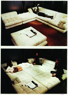 Convertible Couch Set! Perfect for a movie room or lounge room! Must have one of these in my future home!